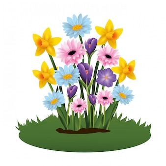Cartone animato tropicale floreale