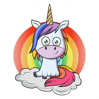 Cartone animato unicorno
