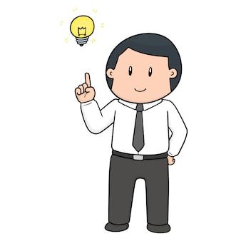 Cartone animato uomo d'affari