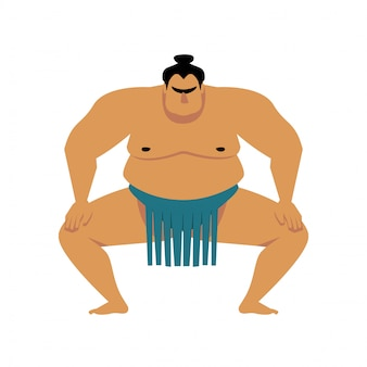 Cartone animato wrestler di sumo