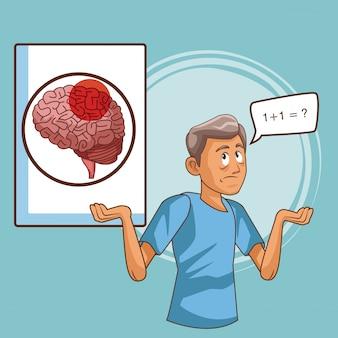 Cartone della malattia di parkinson