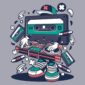 Cartone disk jockey cartoon