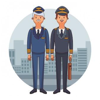 Cartoni aerei piloti di aerei