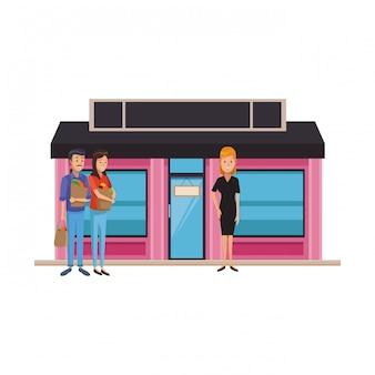 Cartoni animati da boutique di affari