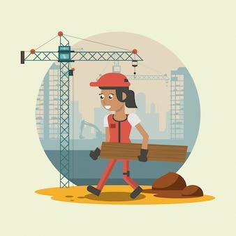 Cartoni animati del muratore