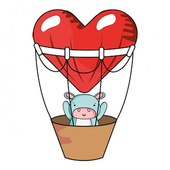 Cartoni animati di amore e animali