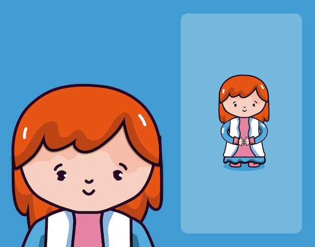 Cartoni animati di bella donna