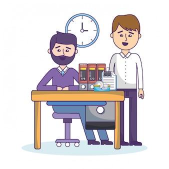 Cartoni animati di colleghi di lavoro