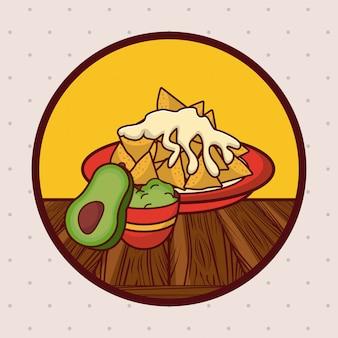 Cartoni animati di gastronomia messicana deliziosa