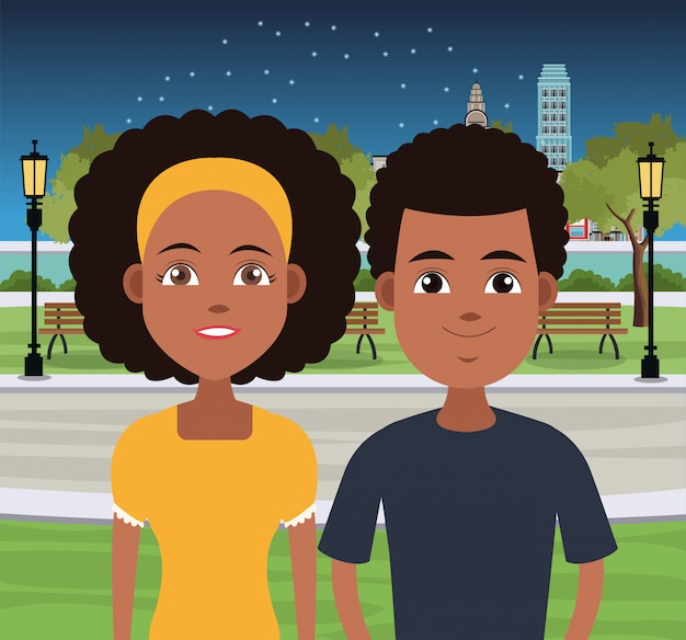 Cartoni animati di giovani coppie