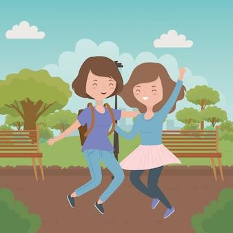 Cartoni animati di ragazze adolescenti