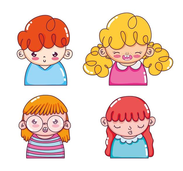 Cartoni animati di ragazze carine