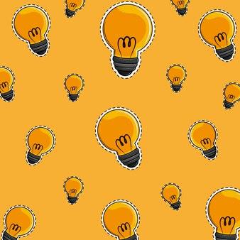 Cartoni animati di sfondo di luci di bulbo