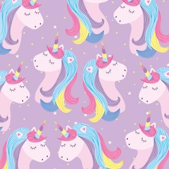 Cartoni animati di sfondo di unicorni