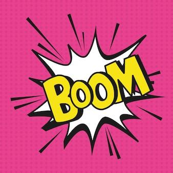 Cartoni animati esplosione boom pop art