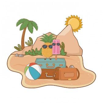 Cartoni animati estivi e da spiaggia