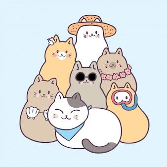 Cartoni animati gatti estivi