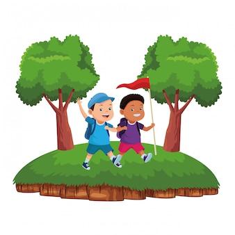 Cartoni animati per bambini e campi estivi