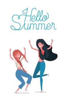 Cartoni animati per ragazze e ciao estate