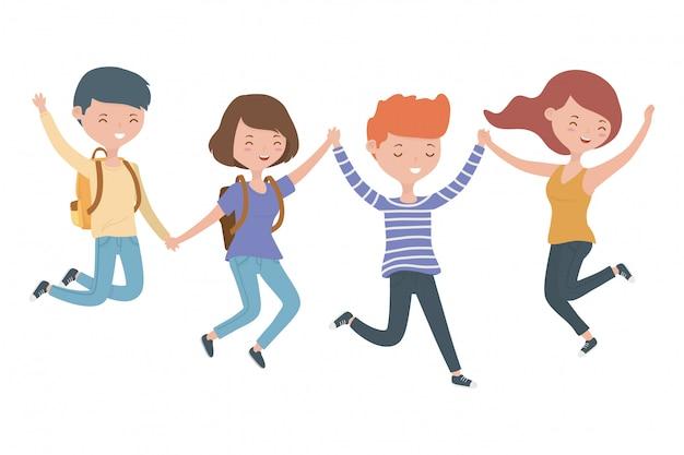 Cartoni animati per ragazzi e ragazze adolescenti
