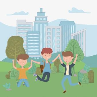 Cartoni animati ragazzi adolescente