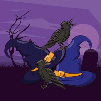 Cartoni animati spaventosi di halloween