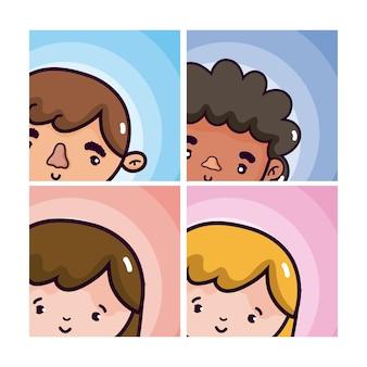 Cartoni animati uomo e donna