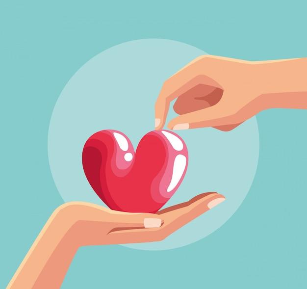 Cartoni di carità per la donazione del sangue
