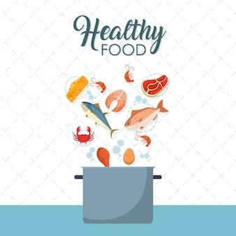 Cartoni di pesce sani e deliziosi
