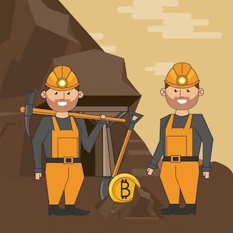 Cartoni minerari di bitcoin