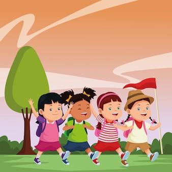 Cartoni per bambini e campi estivi