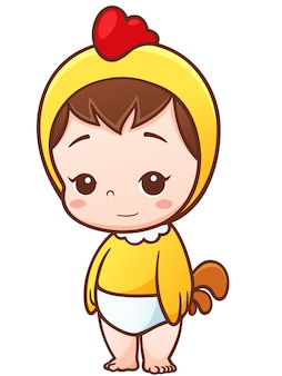 Cartoon baby little chick cosplay