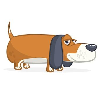 Cartoon biegle dog