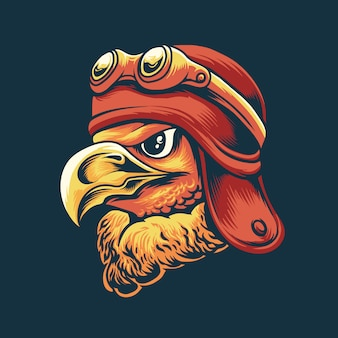 Cartoon eagle illustration