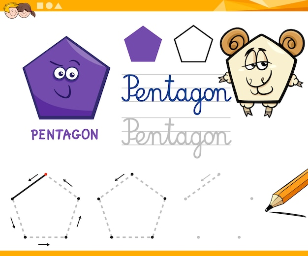 Cartoon forme geometriche di base