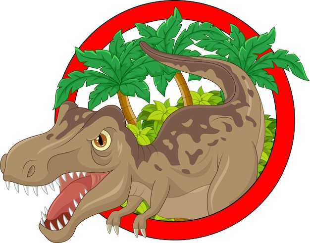 Cartoon grande dinosauro illustrazione