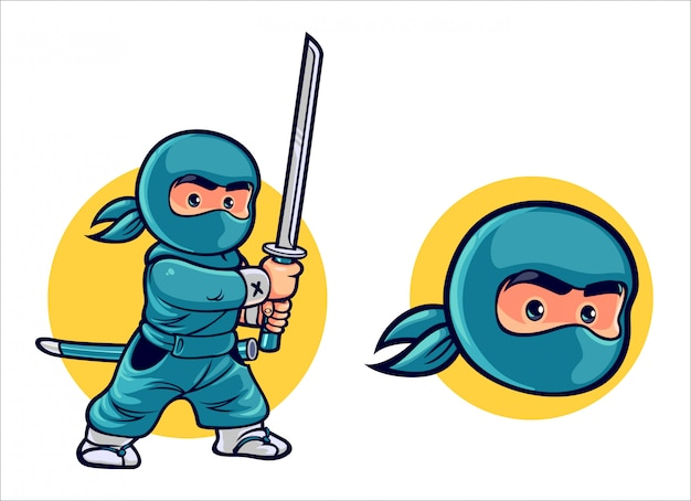 Cartoon kid ninja