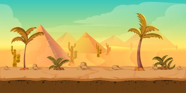 Cartoon natura paesaggio desertico