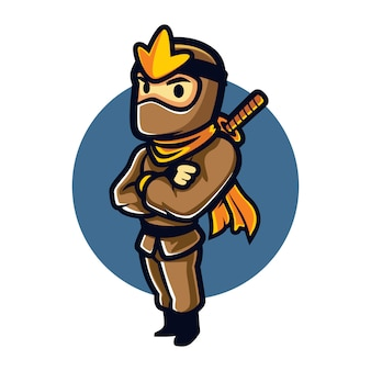 Cartoon ninja steady mascot