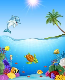 Cartoon pesci tropicali