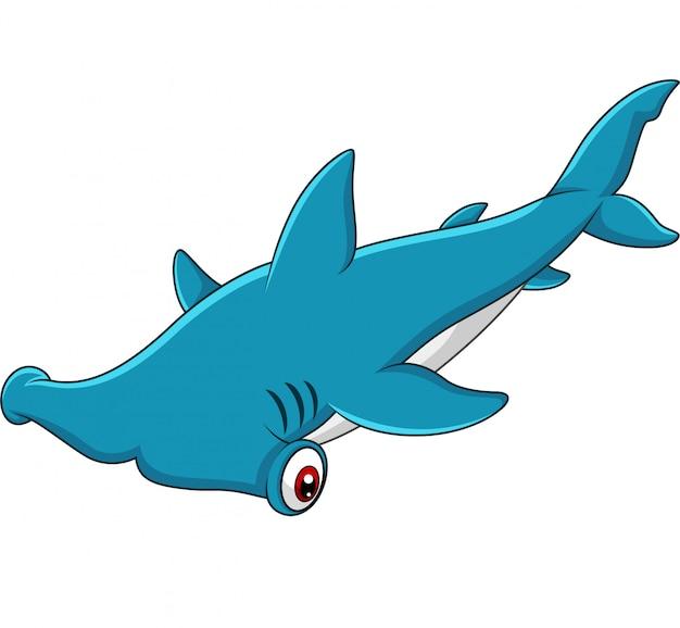 Cartoon squalo martello