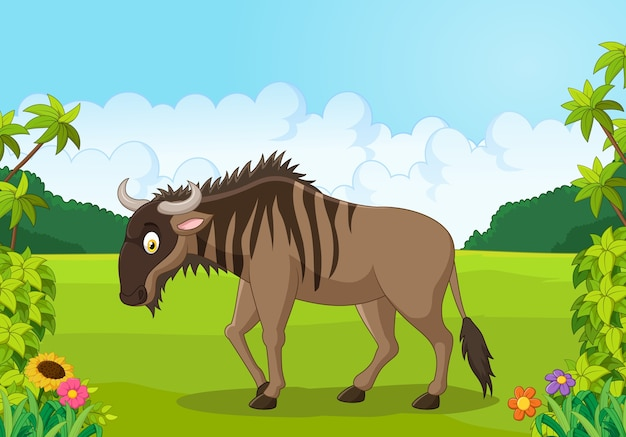 Cartoon wildebeest