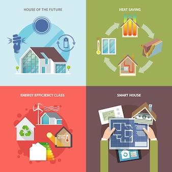 Casa a risparmio energetico piatta