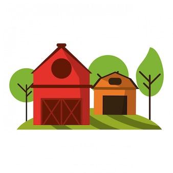 Casa colonica e fienile in natura