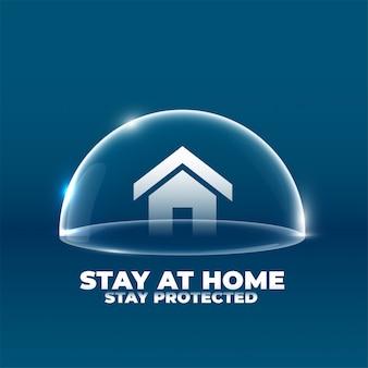 Casa con scudo protettivo concept design del poster