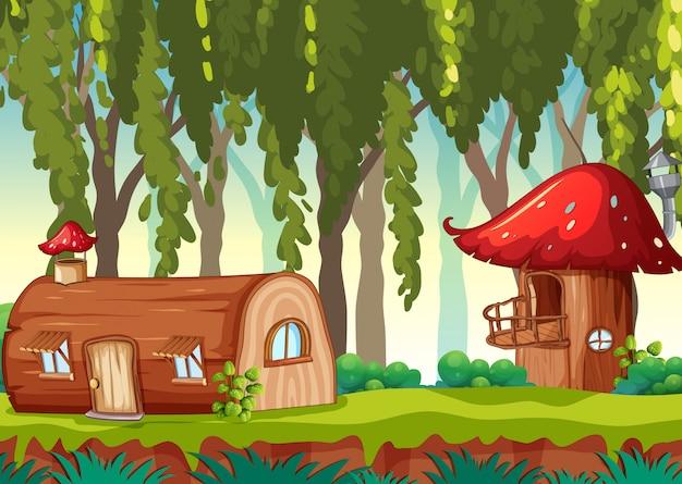 Casa da favola in natura