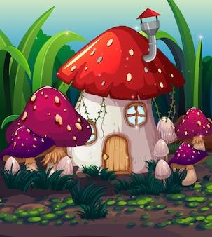 Casa dei funghi magica incantata