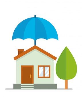 Casa della piccola famiglia usa l'assicurazione per proteggere se brucia