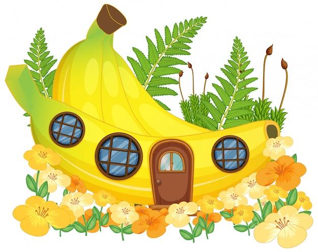 Casa di banane di fantasia