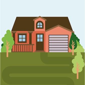 Casa di campagna con mansarda e garage
